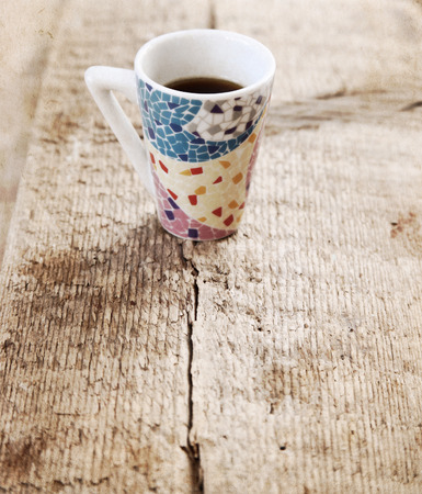 Artwork  in painting  style,  cup of coffee 스톡 사진