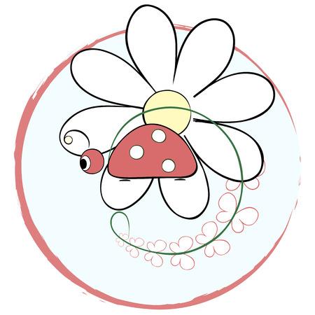 Vector illustration, little beetle