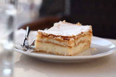 French dessert, mille-feuille