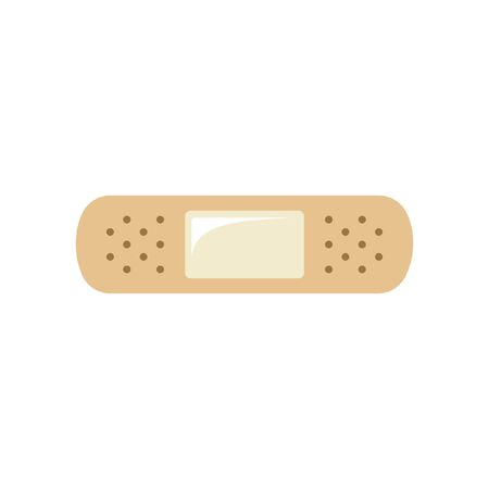 Adhesive bandage flat icon vector colored simple illustration design. Medical care, first aid symbol.