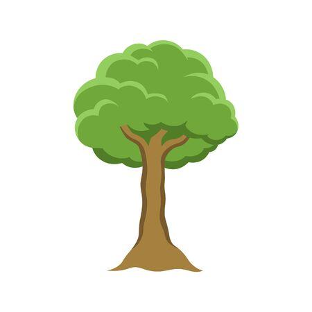 Simple vector tree illustration design