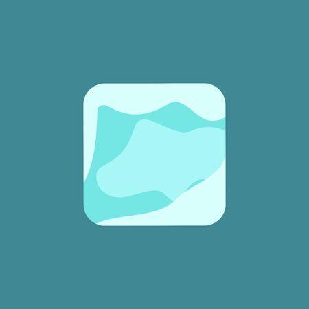 Simple ice cube vector illustration design