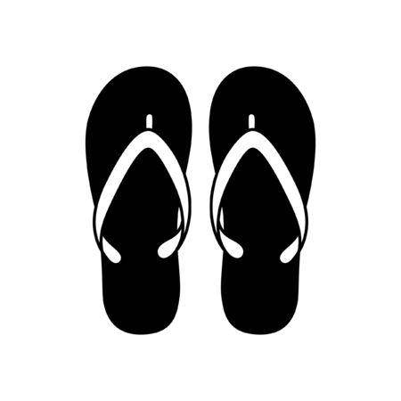 Slipper flip flops vector icon design silhouette