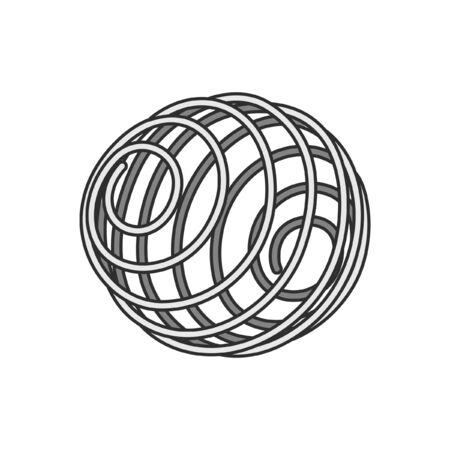 Protein shaker mixing ball cartoon vector art design illustration