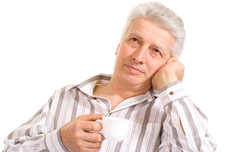vigor: Intelligent elderly man in full vigor feels fine Stock Photo