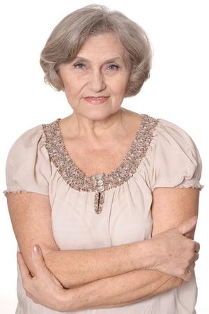 Portrait of a nice senior woman
