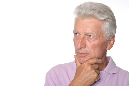 intelligent: Intelligent elderly man in full vigor feels fine Stock Photo