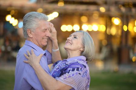 amusing: Portrait of amusing senior couple on vacation