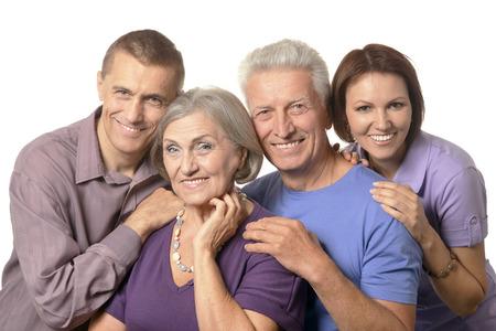 Portret van een leuke familie portret met hogere ouders