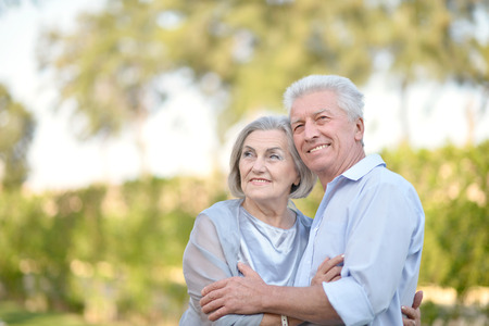 Close-up portrait of a happy senior couple