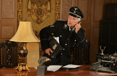 colonel: Portrait of a german spy steals important papers