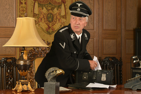 comrade: Portrait of a german spy steals important papers