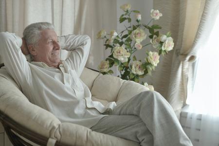 Portrait of a happy senior man indoor