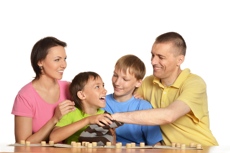 loto: family playing loto together Stock Photo