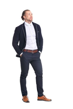 young hipster businessman