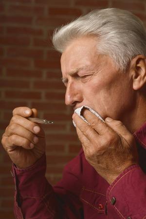 mature man had s toothache Zdjęcie Seryjne