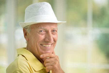 mature man portrait, close up