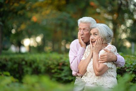senior couple husband and wife Stock Photo