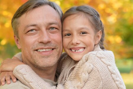 father with daughter portrait