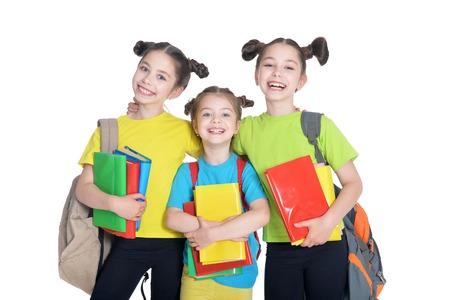 three cute little girls