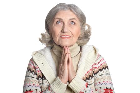 facial expression: mature woman making facial expression