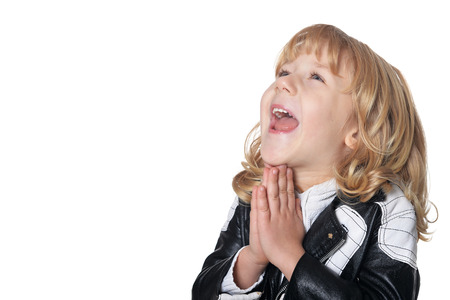 Exited little boy Stock Photo