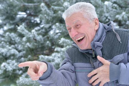 senior happy man