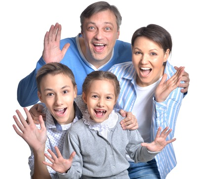 familiar: happy smiling family