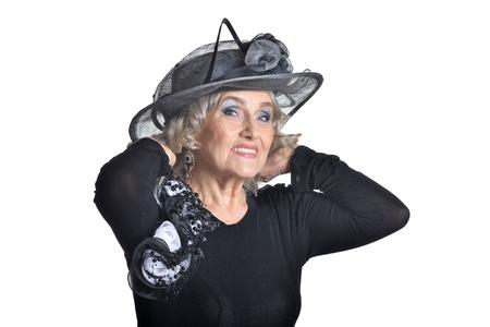 blusa: Senior woman in blouse