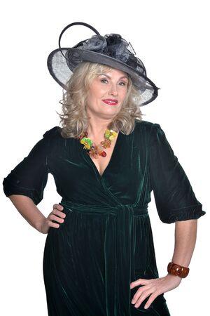 opulence: Senior woman in blouse