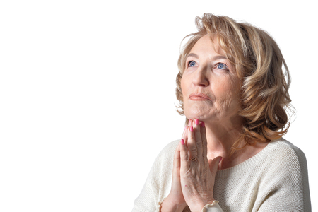 Portrait of praying woman