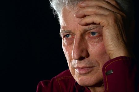 lamentable: sad older man on a
