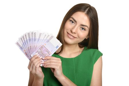 Mooie vrouw met geld