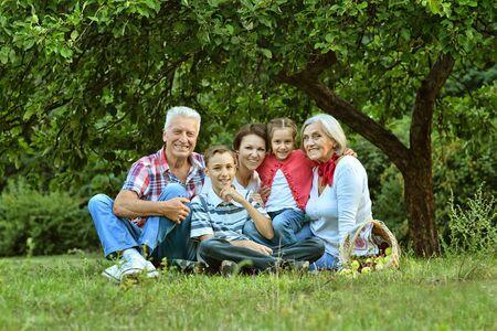 granddad: Portrait of big family resting