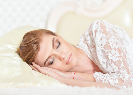 personable: sleeping beautiful young woman