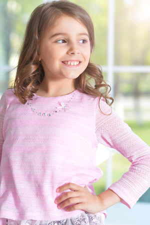 preadolescent: Portrait of cute little girl