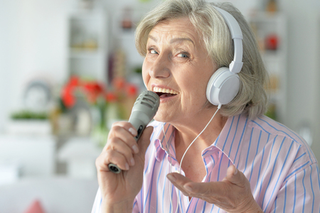 Senior singer woman