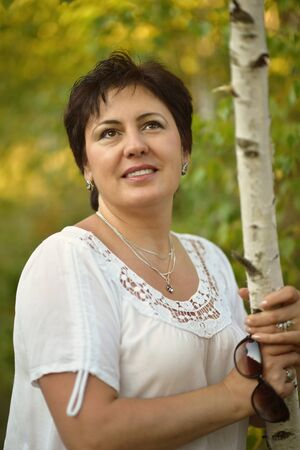 beautiful woman portrait posing Stock Photo