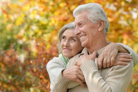 senior couple outdoors 版權商用圖片