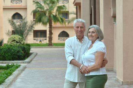 couple  hugging  at  resort