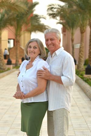 Senior couple at resort