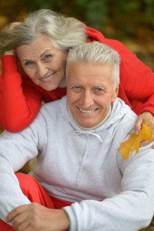 Happy senior couple posing Stock fotó