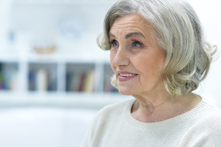 Portrait of beautiful old woman