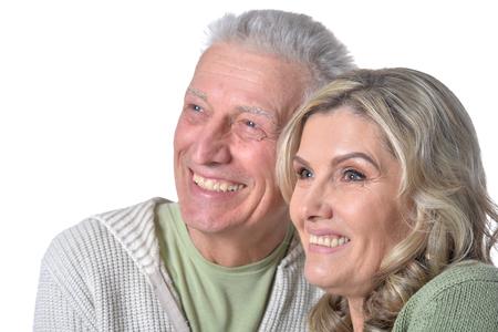 happy  senior couple posing Stock Photo