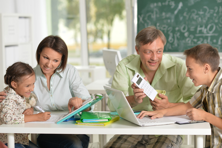 Experienced teachers working with children Stock Photo