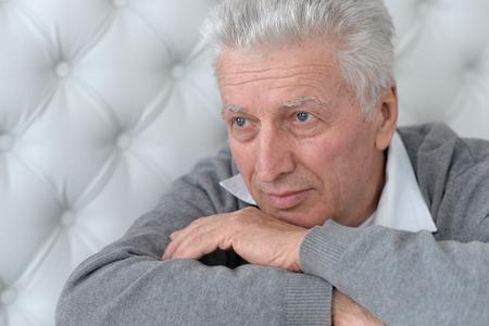 Portrait of senior man thinking