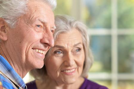 Close-up portrait of a happy senior Stock Photo