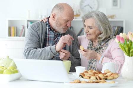 Senior couple portrait 스톡 콘텐츠