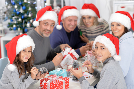 Portrait of a family preparing for Christmas 스톡 콘텐츠 - 109769497