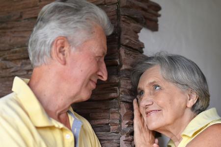 Portrait of a beautiful caucasian elderly couple